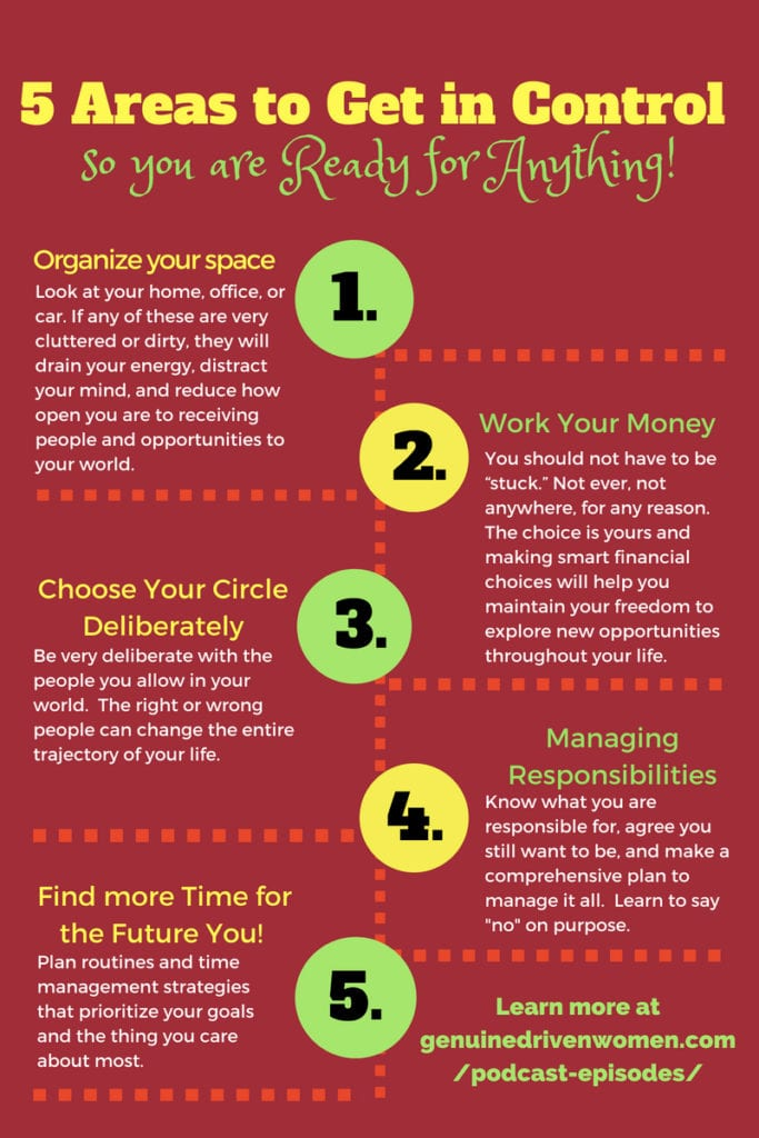 5 Areas to Get in Control